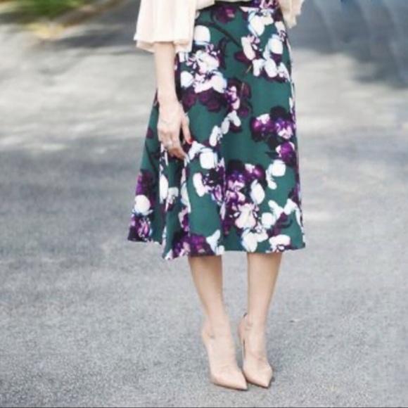 Banana Republic Andrea Floral Maxi Skirt Size 12
